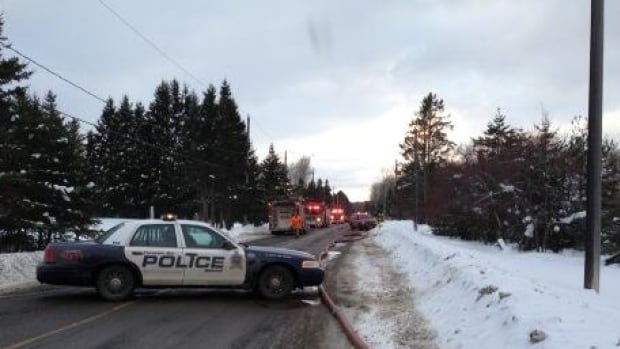 Police and fire crews responded to a fire that damaged a home being built on the city's southern outskirts.