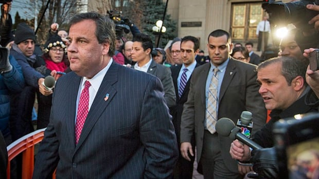 New Jersey Gov. Chris Christie departs City Hall in Fort Lee, N.J., last week, after firing a top aide who apparently helped orchestrate massive traffic jams at a busy commuter bridge to settle an election score.