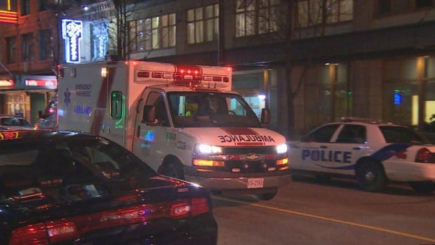 Two men are in hospital after an apparent violent altercation Monday night in downtown Vancouver.