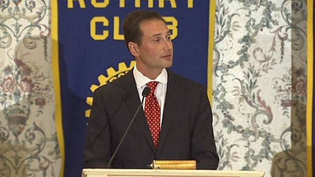P.E.I. Premier Robert Ghiz gave his state of the province address to the Rotary Club Monday.