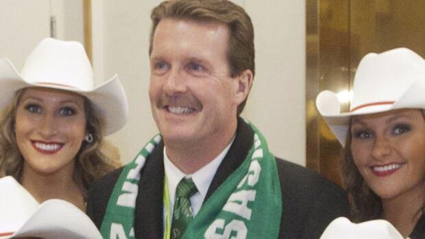 Regina Mayor Michael Fougere is all smiles during Grey Cup week festivities in his city last November.