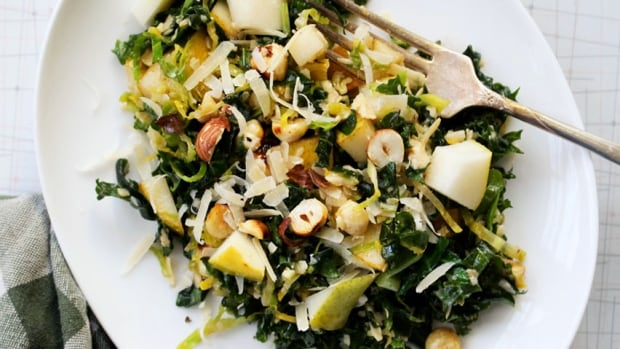 Browned butter Brussels sprout salad