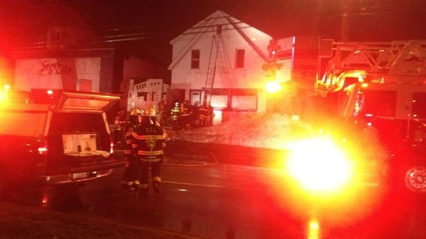 The fire on University Avenue started around 6:30 a.m.