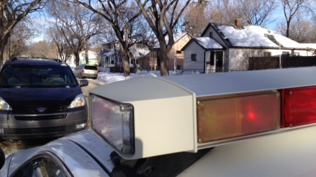 Saskatoon police on the scene of a standoff on the 500 block of Avenue J North.