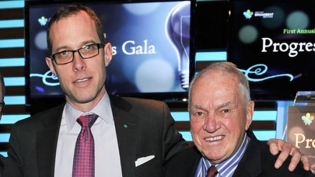 The Broadbent Institute, headed by executive director Rick Smith, left, and chair Ed Broadbent, has released a report calling for an independent inquiry into the Canada Revenue Agency's audits of charities for political activities, alleging the agency targets Harper government critics.