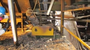 Sawdust on Mill Motor