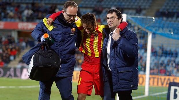 Neymar was hurt in Thursday's 2-0 Copa del Rey victory at Getafe.