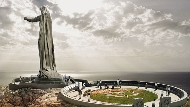 This is a conceptual drawing of the proposed war memorial in Green Cove, in the Cape Breton Highlands National Park.