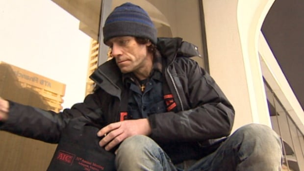 Gary Fyfe, who is originally from Scotland, has been on the streets on and off for the past 10 years. He said the lineups are long, fights more frequent and sleeping areas at shelters cramped as the city continues to heave with homeless.