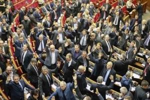 Ukraine Parliament votes