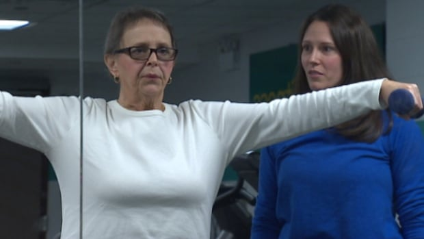 Pat Chute, left, is a breast cancer survivor who golfed, curled and lawn bowled before her treatment.