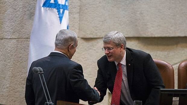 Harper's unyielding support for Israel