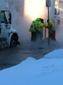 Logan Avenue water main repair