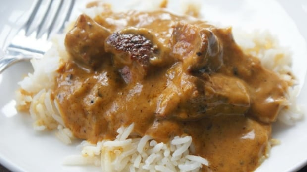 Curried peanut butter beef
