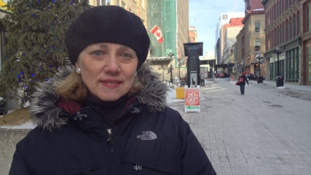 Carol McDonald with the Ottawa Council on Smoking or Health says Sparks Street Mall should be governed by the same bylaws that ban smoking in parks.