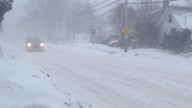 Conditions in Charlottetown deteriorated through the afternoon.