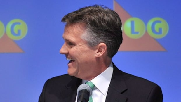 Rod Phillips, seen at a Toronto news conference in December, is leaving the Ontario Lottery and Gaming Corporation.