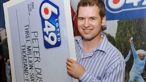 Peter Dushop lottery win