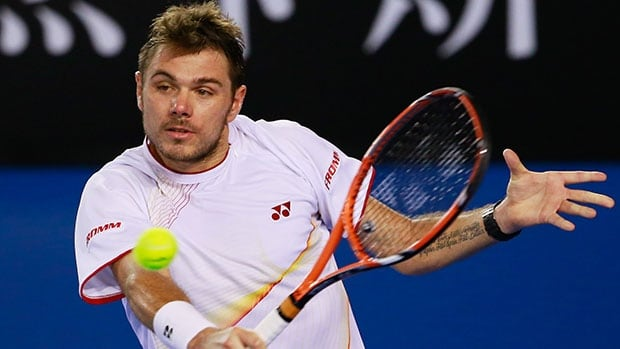 Stanislas Wawrinka plays a backhand during his semifinal win over Tomas Berdych  in Melbourne.