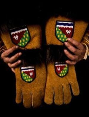 Olympic moosehide gloves