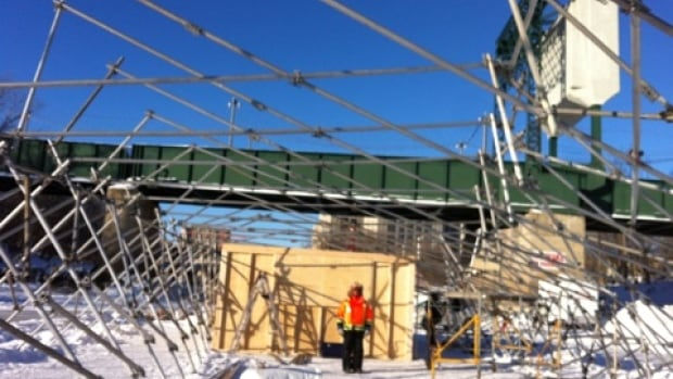 RAW: almond, the pop-up restaurant on the ice, needs a tarp and it will be set to go.