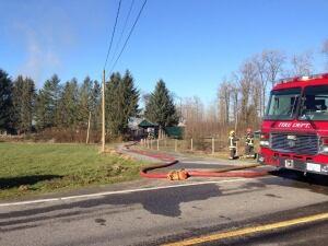 Fire response - Langley Township farmhouse fire