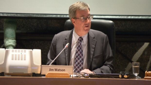 Mayor Jim Watson spoke about a variety of city projects during his speech to city council on Jan. 22, 2014.