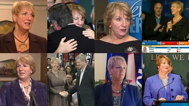 Kathy Dunderdale as premier through the years.