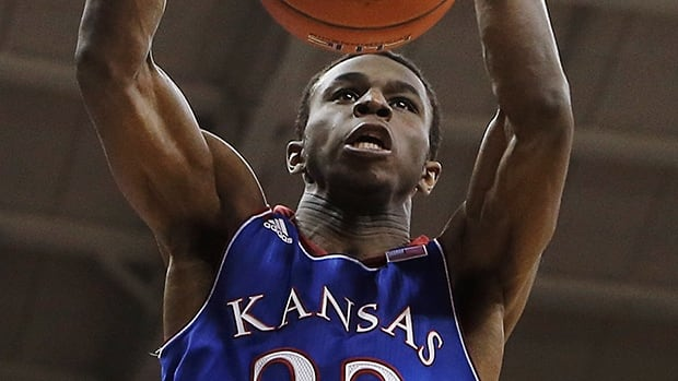 Kansas guard Andrew Wiggins dunks in the first half against TCU, Saturday, Jan. 25, 2014, in Fort Worth, Texas.