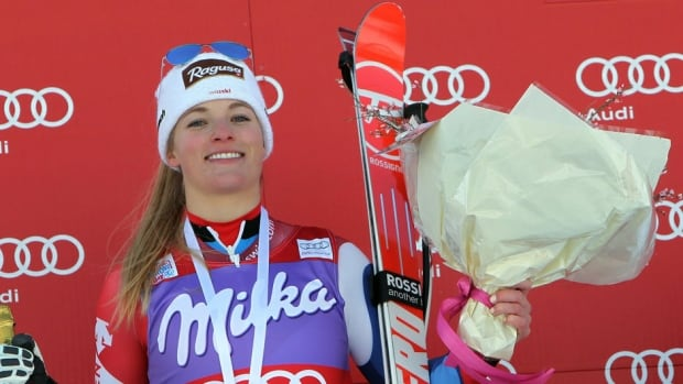 Lara Gut earned her fifth victory of this campaign on Sunday but the first since Lake Louise, Alta., in early December.