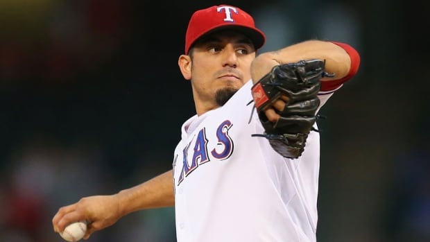 Matt Garza went 10-6 with a 3.82 ERA last season for the Chicago Cubs and Texas Rangers.