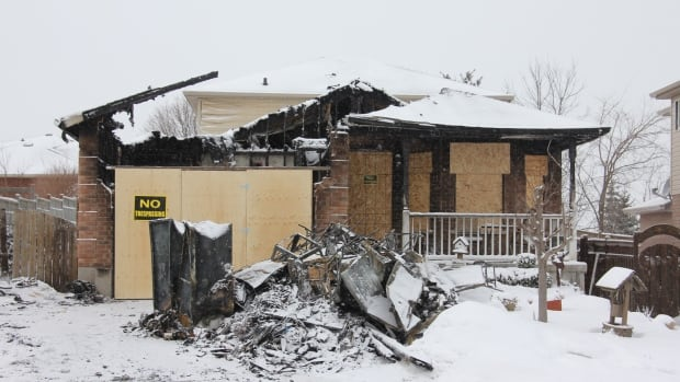 A Saturday morning fire at this home on Deerpath Drive in Guelph left one resident dead, and hospitalized four others.