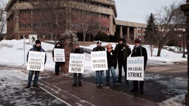 The Mount Allison Faculty Association is accusing the university of falsely declaring an end to the strike.