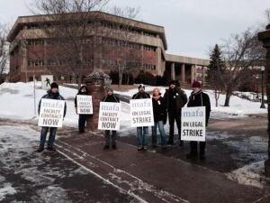 Mount Allison professors on strike
