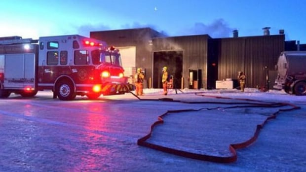 A major fire broke out at the K & D Truck Parts facility north of the City of Regina landfill.