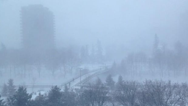 Twitter user @sletouze snapped this photograph of the Corktown Footbridge along the Rideau Canal Monday morning.