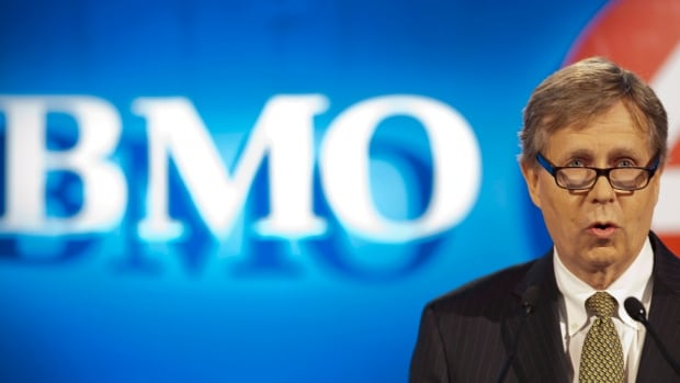 Bank of Montreal chairman Robert Prichard addresses shareholders during the company's annual general meeting in Saskatoon on April 10, 2013. BMO is making a bid for U.K. asset management company F&C.