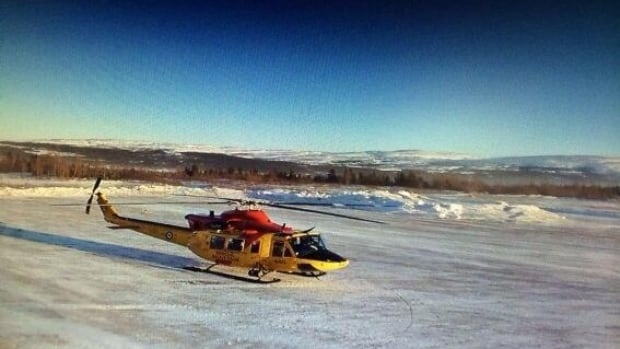 This Griffon helicopter is being used as a part of the search for missing snowmobiler Michel Rich.
