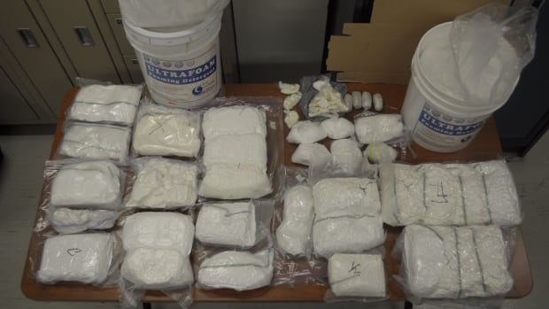 Toronto police say the 25 kg of cocaine and 24 kg of phenacetin seized over the weekend would be worth some $3 million on the street.