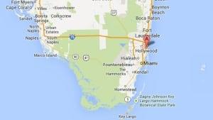 Hollywood, Florida, map