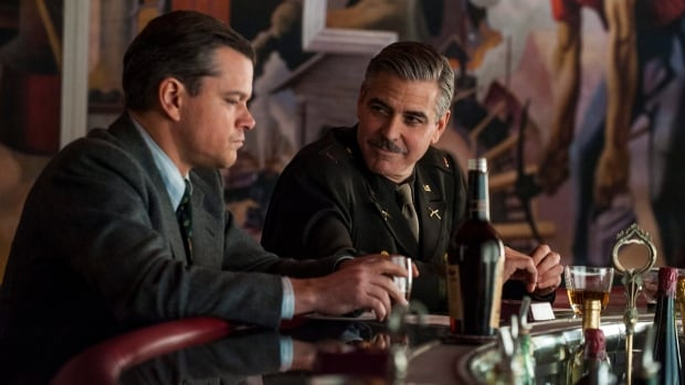 Matt Damon, left,  and George Clooney, are among the stars in The Monuments Men, which details efforts to save valuable art from the Nazis during the Second World War.