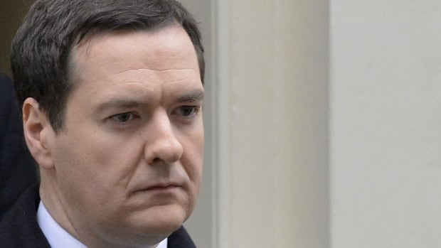 Britain's Chancellor of the Exchequer George Osborne is shown Dec. 12, 2013. 'What you see today ... is a rebalancing of the British economy,' he says.