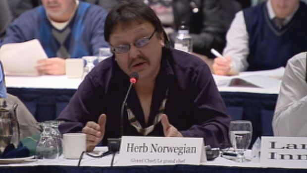 Dehcho Grand Chief Herb Norwegian says the N.W.T. government is asking them to accept a land claim settlement or accept that 'negotiations have failed,' but Norwegian also says there were no negotiations at all.