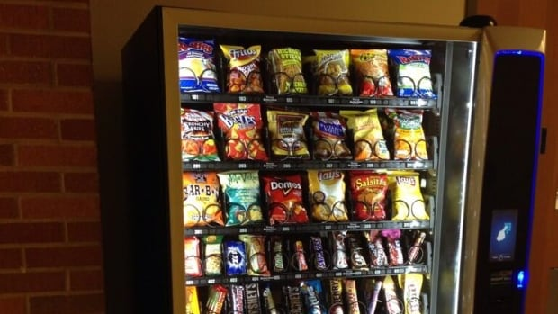 There are few healthy options  in a new vending machine at the University of Windsor's human kinetics building.