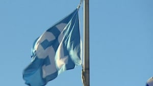 Seahawks flag at Regina City Hall