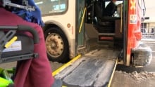 Wheelchair ramp for bus