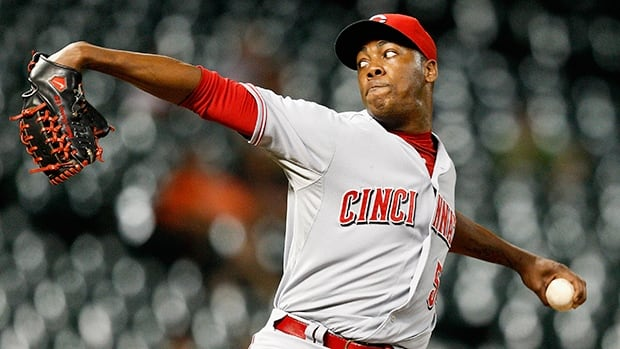 Aroldis Chapman went 4-5 with 38 saves and a 2.54 ERA in 68 appearances with 112 strikeouts in 63 2-3 innings with the Cincinnati Reds.