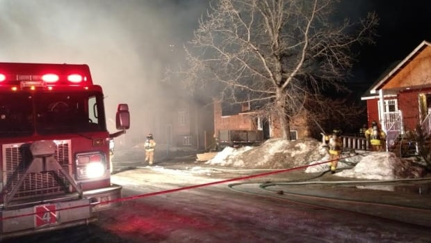 The fire started early Tuesday evening at a house under construction in west Edmonton.
