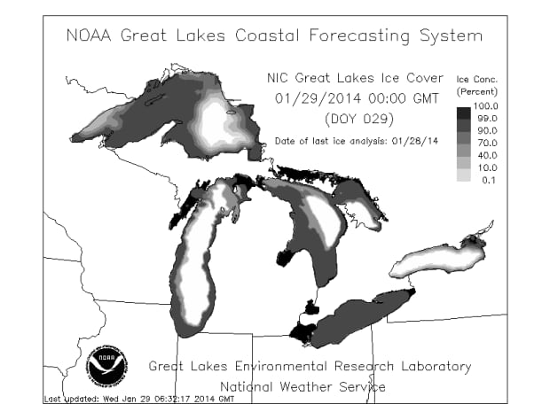Ice Cover Great Lakes