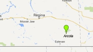 Arcola, Sask. map skpic